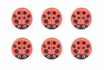 Kikkerland Ladybug Bag Clips (Set of 6), Red