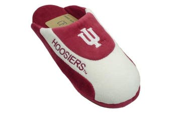 (2. MD - W 7.5-9.5, M 6.5-8.5, Red) - Happy Feet Mens and Womens Indiana Hoosiers NCAA Low Pro Slippers
