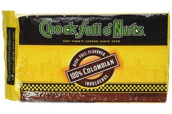 (100% Colombian Brick,, Ground Brick) - Chock full o'Nuts Coffee 100% Colombian Brick, 300ml