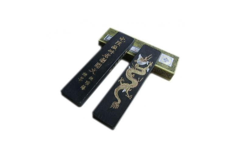 (Fine Lacquer Smoke Tzhk 31g) - Hukaiwen Ink Block Handmade Fine Lacquer Smoke Ink Stick for Chinese Traditional Calligraphy and Painting CdqTzhk 31g