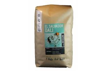 (El Salvador Dali Blends, 1kg) - Larry's Coffee Whole Bean Fair Trade Organic Coffee, El Salvador Dali Blends, 1kg