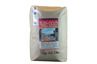 (Bolivia, 1kg) - Larry's Coffee Whole Bean Fair Trade Organic Coffee, Bolivia, 1kg