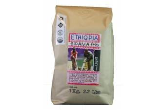 (Ethiopia, 1kg) - Larry's Coffee Whole Bean Fair Trade Organic Coffee, Ethiopia, 1kg