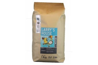 (Larry's House Blend, 1kg) - Larry's Coffee Whole Bean Fair Trade Organic Coffee, Larry's House Blend, 1kg