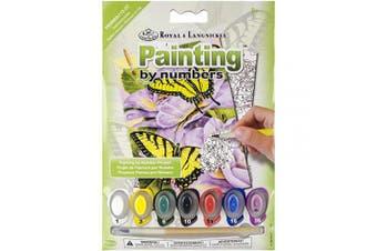 (Swallowtail Butterflies) - Mini Paint By Number Kit 13cm x 18cm