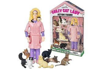 (Glossy Exclusive Paper) - Accoutrements Crazy Cat Lady Action Figure Set