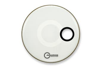 Aquarian Drumheads RSM16WH Regulator White 41cm Bass Drum Head, gloss white