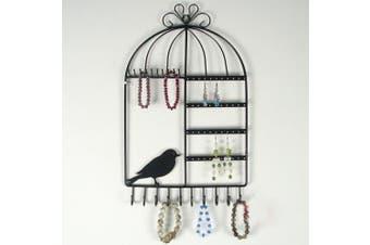 Arad Birdcage Jewellery Wall Stand Black