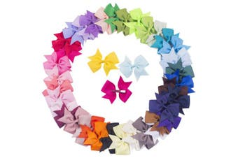 """(41 pcs 4"""" hair bows /41 colors(01-2)) - Bzybel 41 Pcs 10cm Baby Girl Boutique Hair Bows Alligator Clips Grosgrain Ribbon Bows for Teens Baby Girls Babies Toddlers Barrettes"""