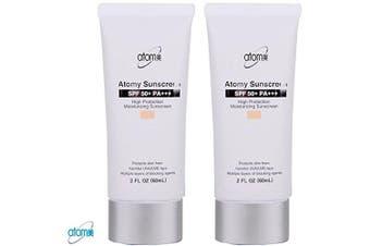 Atomy Sunscreen SPF 50 + Pa +++ Herb Skin Care Uv Sun Protection Beige 2 Pcs 1 Set