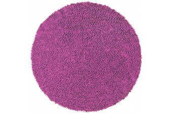 (0.9m by 0.9m, Orchid) - Shagadelic Chenille Twist Round Rug, 0.9m by 0.9m, Orchid