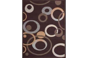 (0.3m3.4m x 0.9m, Chocolate) - United Weavers of America Dallas Hip Hop Rug, 0.6m x 0.9m, Chocolate