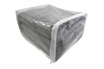 (10, 11 x 23cm  x 15cm ) - Zippered Clear Vinyl Storage Bag 11x 9inch x 15cm , Set of 10, AK Plastics by AntiqueKitchen