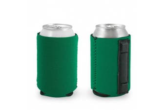 (1, Kelly Green) - Magnetic Neoprene Collapsible Can Coolie (Kelly Green)