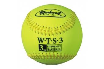 Markwort Weighted Synthetic Covered Baseball, 23cm , 90ml, Optic Yellow