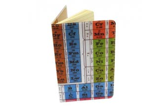 Periodic Table Journal (Diary, Notebook) w/ Moleskine Cahier Pocket Cover