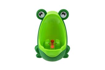 (Green) - RGBZONE Boy's Baby Urinal - Perfect Cute Frog Training Potty for Boys with Funny Aiming Target - Green
