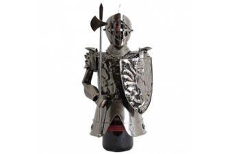 BRUBAKER Wine Bottle Holder Knight Metal Sculpture Gift