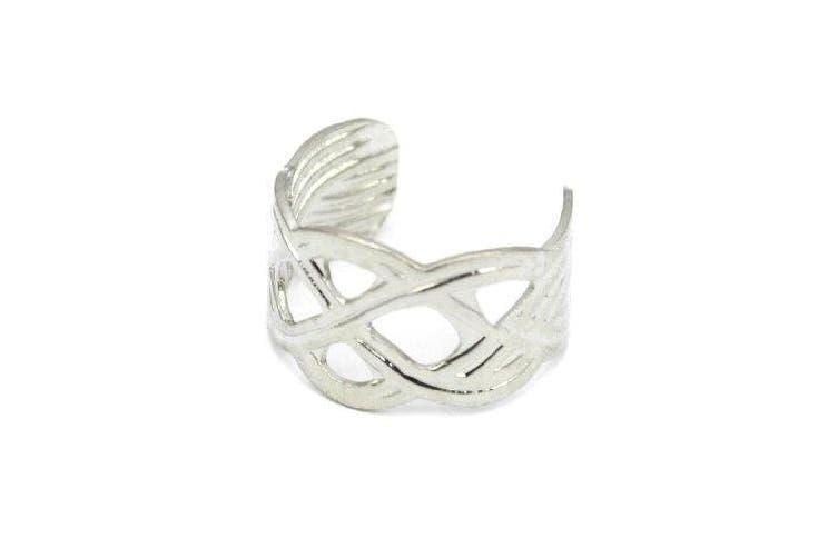 Elixir77UK Antique Silver Colour Knot Criss Cross Ear Cuff Clip On Wrap Helix Non Pierced Earring UK SELLER