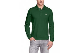 (X-Small (Manufacturer Size: 2), Green) - Lacoste Men's Long-Sleeve Polo Shirt