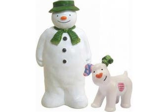 Anniversary House : Raymond Briggs The Snowman & The Snowdog Cake Decoration Set