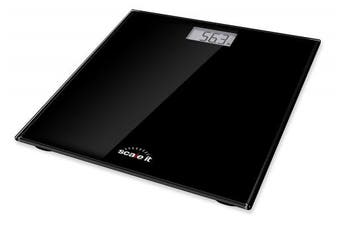 Scaleit Digital Bathroom Scale - LCD Display with Backlight - Black Tempered Glass - 180kg Capacity