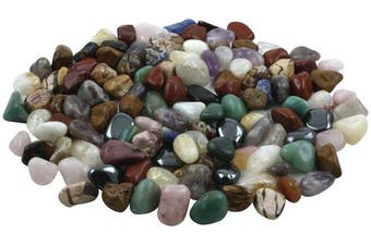(0.5kg, Extra Large - Natural Stones) - Crystal Allies Materials: 0.5kg Tumbled All Natural Assorted Stone Mix from Brazil - 3.8cm - 6.4cm