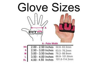(Large, Hot Pink) - Weightlifting Gloves - The Gripper | Callus Guard WOD Workout Gloves by Fit Four for Cross Training Fit Athletes - Enhanced Silicone Grip Palm