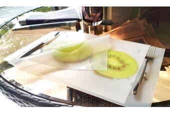 (2, Kiwi) - 100 Goods Silicone Kiwi Fruit Placemat , 11.4 x 41cm x 0.08cm , Set of 2 Transparent white