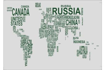 (2, Word of World) - 100 Goods Silicone Words of World Map Placemat , 11.4 x 41cm x 0.08cm , Set of 2 Transparent White