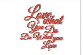 "(2, Love) - 100 Goods Silicone ""Love what you do, do what you love"" Placemat , 11.4 x 41cm x 0.08cm , Set of 2 Transparent white"