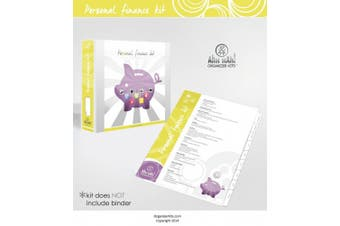 Ahh Hah! Organiser Kit - Personal Finance: Index Tabs for Three-ring Binder with Cover