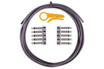 (Black) - Lava Cable Tightrope Solder-Free Pedal-Board Kit Black Cable