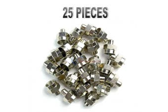 25 pieces f type 75 ohm terminator coaxial satellite tv rf port end caps