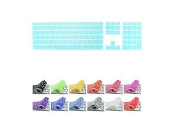 (Teal) - All-inside Teal Keyboard Cover for iMac Wired USB Keyboard