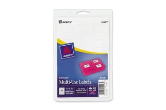 (1) - Avery Removable Print or Write Labels, White, 1.3cm x 1.9cm , Pack of 1008 (5418)