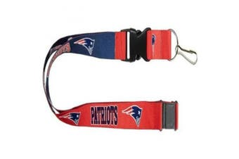 NFL New England Patriots Team Logo Reversible Lanyard Keychain