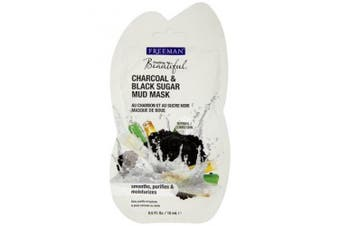 Freeman Feeling Beautiful Charcoal & Black Sugar Mud Mask, 15ml