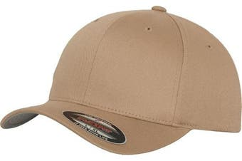 (XS-S, Green - Khaki) - Adult Flexfit Woolly Combed Cap