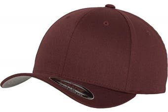 (XS-S, - Marron) - Adult Flexfit Woolly Combed Cap