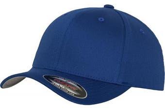 (XS-S, Bleu - Bleu roi) - Adult Flexfit Woolly Combed Cap