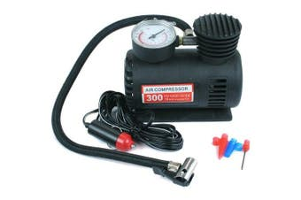 NEW 12V COMPACT AIR COMPRESSOR PUMP BIKE CAR VAN TYRE INFLATOR BICYCLE BALL