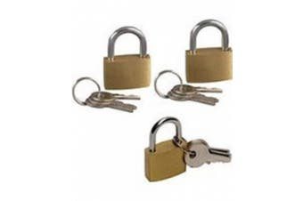 HIGH QUALITY 3 X 20MM SMALL PADLOCKS PADLOCK LUGGAGE LOCKS SUITCASE TRAVEL BAGS BIKE GATE