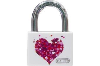 ABUS T65AL/40 My Love Heart/Beach Aluminium Padlock