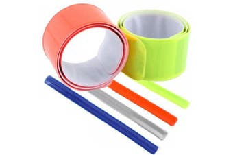 4pcs Reflective Safety Slap On Bands for Cycling, Jogging etc.