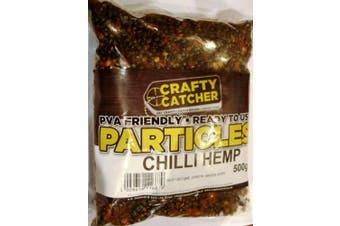 Natural Hemp + Chilli Particles Mix. PVA Friendly Prepared Bait - 500g Includes FREE PVA Bag