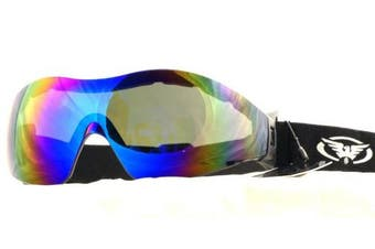 Shatterproof Goggles For Skydiving / Freefall and Parachuting Complete With FREE Microfibre Storage Pouch