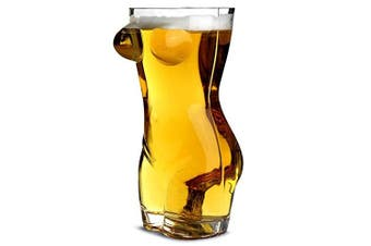 Sexy Torso Beer Glass 2.75 Pint - Gift Boxed Adult Novelty Beer Glass Gift For Men