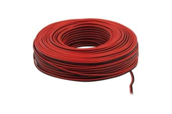 30m of Red & Black Speaker Cable 0.35mm2 Strand by Auline® for Surround Sound Hifi Car Audio System