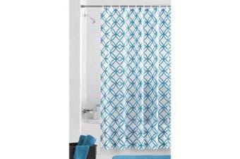 Mainstays Hadley Teal PEVA Shower Curtain
